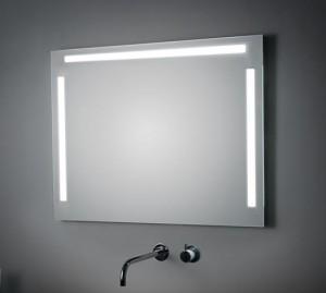 Espejo doble con iluminación lateral y superior