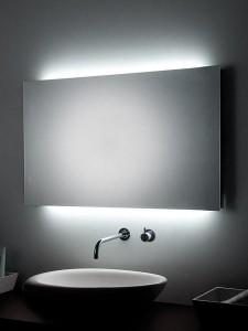 Espejo con iluminación ambiental