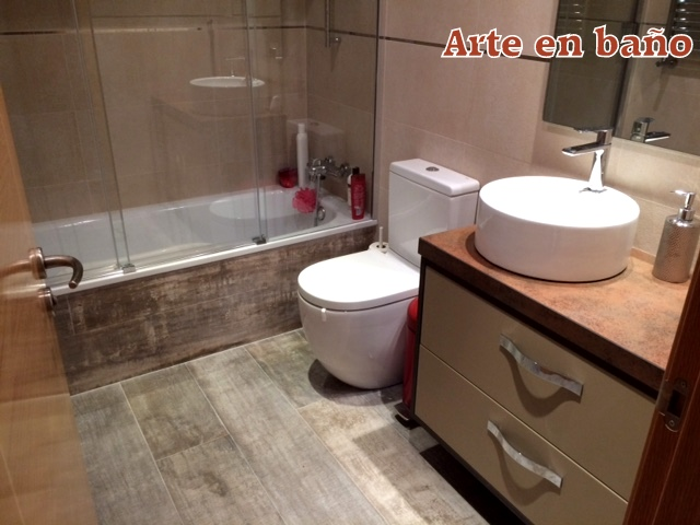 Cuartos de baño pequeños - reformas - Arte en baño