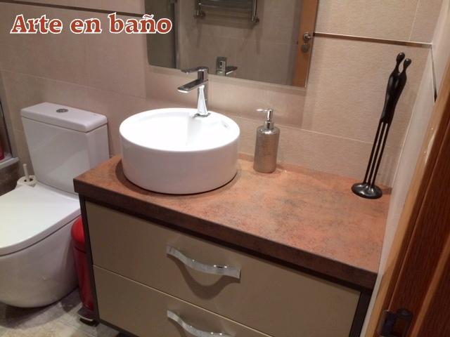mueble de baño con encimera a medida