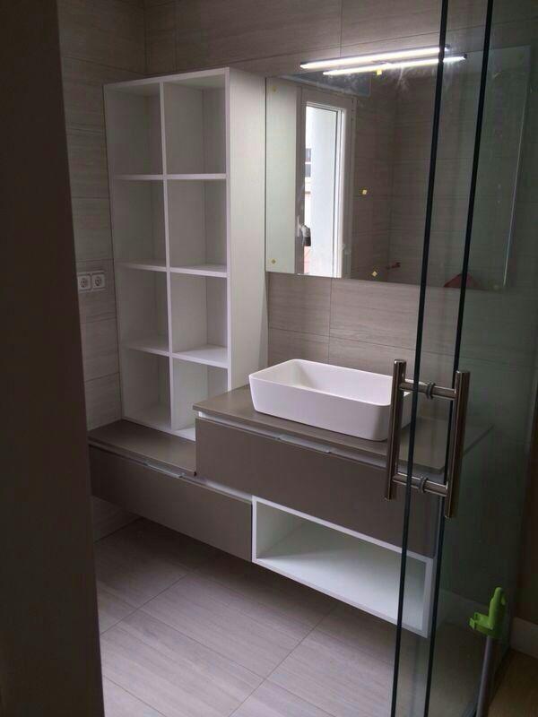 Mueble de ba o sin tiradores reforma con estilo - Tiradores para muebles de bano ...